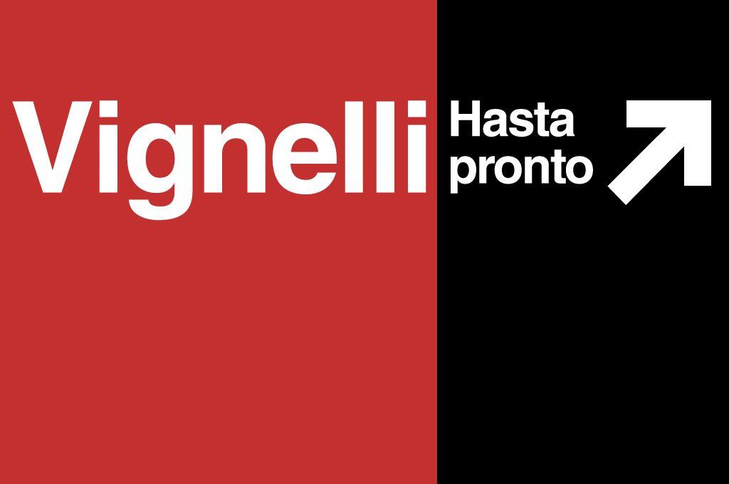 Hasta pronto Massimo Vignelli